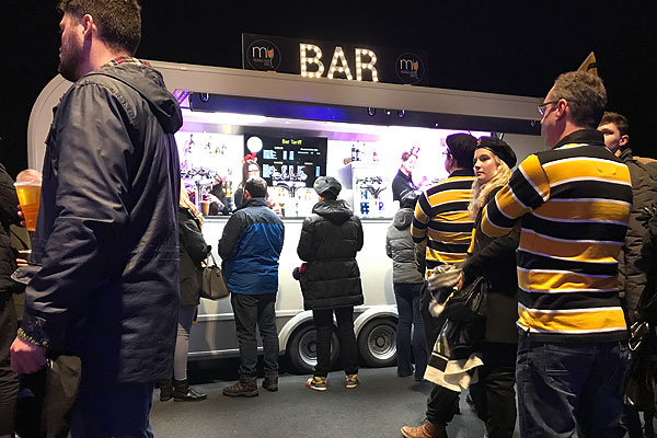 High volume mobile bar for hire