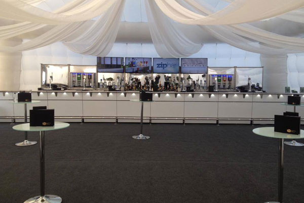 Serviced mobile bar hire in different styles
