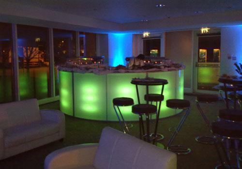 coloured bar hire