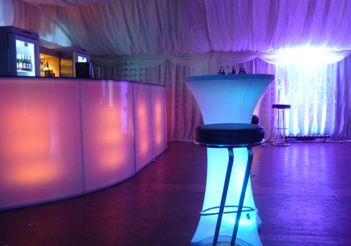 led lights bar hire uk