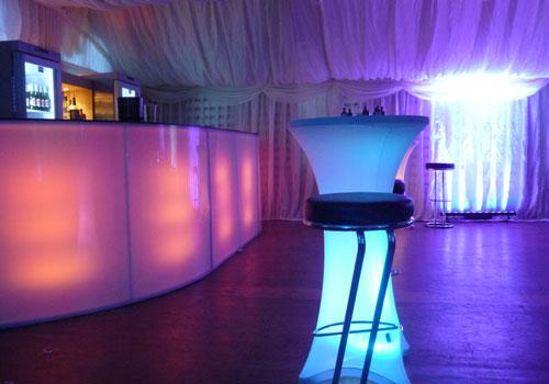 led lights bar hire uk